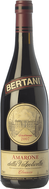 104,95 € Free Shipping | Red wine Bertani Classico 2008 D.O.C.G. Amarone della Valpolicella Veneto Italy Corvina, Rondinella Bottle 75 cl