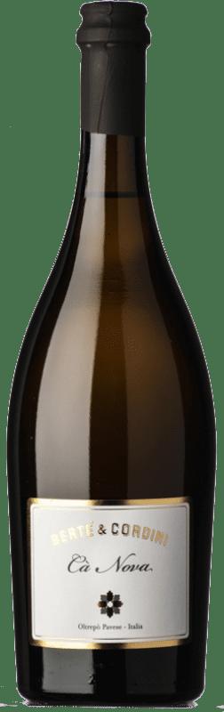 12,95 € Free Shipping | White wine Bertè & Cordini Cà Nova D.O.C. Oltrepò Pavese Lombardia Italy Pinot Black Bottle 75 cl