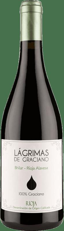 10,95 € Free Shipping | Red wine Bhilar Lágrimas Joven D.O.Ca. Rioja The Rioja Spain Graciano Bottle 75 cl