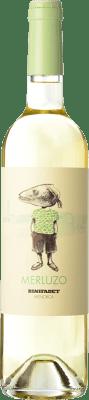 8,95 € Free Shipping | White wine Binifadet Merluzo I.G.P. Vi de la Terra de Illa de Menorca Balearic Islands Spain Merlot, Malvasía, Muscatel, Chardonnay Bottle 75 cl