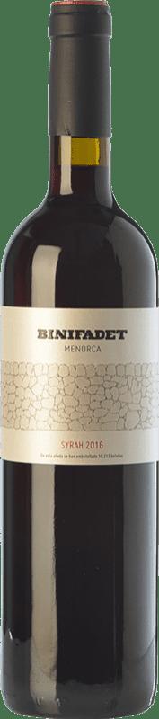 17,95 € Free Shipping | Red wine Binifadet Joven I.G.P. Vi de la Terra de Illa de Menorca Balearic Islands Spain Syrah Bottle 75 cl