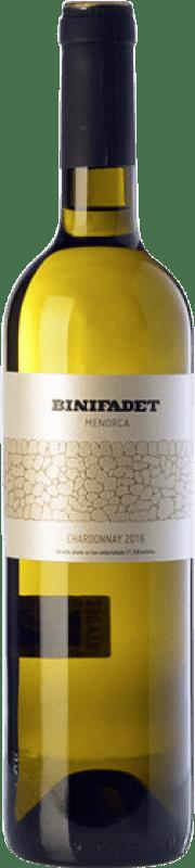 17,95 € Free Shipping | White wine Binifadet I.G.P. Vi de la Terra de Illa de Menorca Balearic Islands Spain Chardonnay Bottle 75 cl