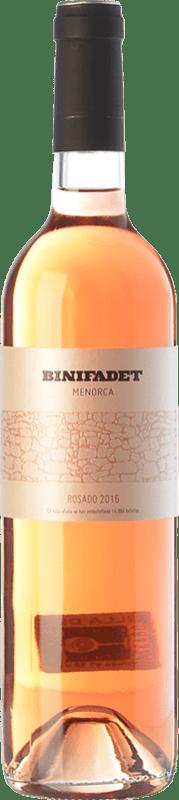 14,95 € Free Shipping | Rosé wine Binifadet I.G.P. Vi de la Terra de Illa de Menorca Balearic Islands Spain Merlot, Monastrell Bottle 75 cl