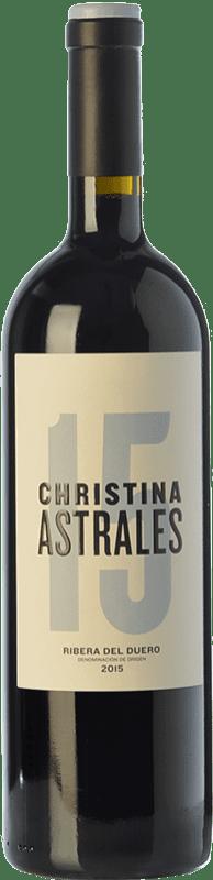 42,95 € Envoi gratuit | Vin rouge Astrales Christina Crianza D.O. Ribera del Duero Castille et Leon Espagne Tempranillo Bouteille 75 cl