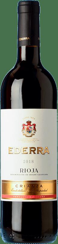 5,95 € Envoi gratuit | Vin rouge Bodegas Bilbaínas Ederra Crianza D.O.Ca. Rioja La Rioja Espagne Tempranillo Bouteille 75 cl