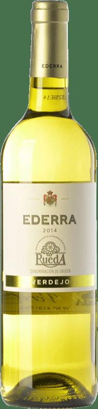 6,95 € Spedizione Gratuita | Vino bianco Bodegas Bilbaínas Ederra Verdejo Joven D.O. Rueda Castilla y León Spagna Viura, Verdejo Bottiglia 75 cl