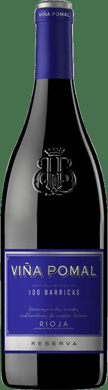 15,95 € Free Shipping | Red wine Bodegas Bilbaínas Viña Pomal 106 Barricas Reserva D.O.Ca. Rioja The Rioja Spain Tempranillo, Grenache, Graciano Bottle 75 cl