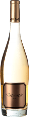 29,95 € Free Shipping | Rosé wine Hispano-Suizas Impromptu Rosé D.O. Valencia Valencian Community Spain Pinot Black Bottle 75 cl