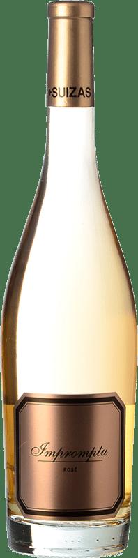 24,95 € Free Shipping | Rosé wine Hispano-Suizas Impromptu Rosé D.O. Valencia Valencian Community Spain Pinot Black Bottle 75 cl