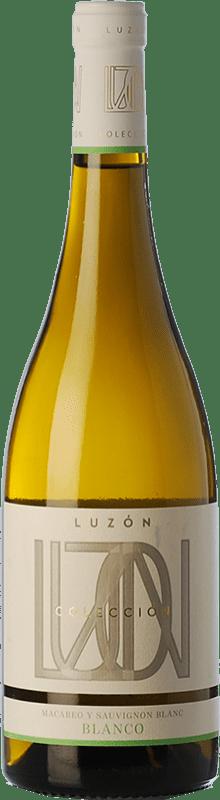 6,95 € Free Shipping | White wine Luzón Crianza D.O. Jumilla Castilla la Mancha Spain Macabeo, Airén Bottle 75 cl