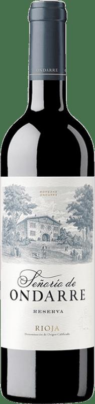 15,95 € Free Shipping | Red wine Ondarre Señorío de Ondarre Reserva D.O.Ca. Rioja The Rioja Spain Tempranillo, Grenache, Mazuelo Bottle 75 cl