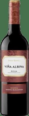 13,95 € Envoi gratuit | Vin rouge Bodegas Riojanas Viña Albina Selección Reserva D.O.Ca. Rioja La Rioja Espagne Tempranillo, Graciano, Mazuelo Bouteille 75 cl