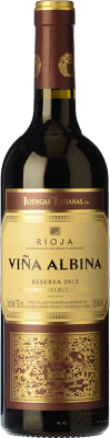 13,95 € Envío gratis | Vino tinto Bodegas Riojanas Viña Albina Selección Reserva D.O.Ca. Rioja La Rioja España Tempranillo, Graciano, Mazuelo Botella 75 cl