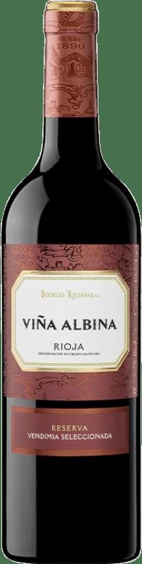 13,95 € Envío gratis   Vino tinto Bodegas Riojanas Viña Albina Selección Reserva D.O.Ca. Rioja La Rioja España Tempranillo, Graciano, Mazuelo Botella 75 cl