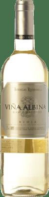 4,95 € Kostenloser Versand | Weißwein Bodegas Riojanas Viña Albina Halb Trocken D.O.Ca. Rioja La Rioja Spanien Viura, Malvasía Flasche 75 cl