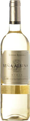 5,95 € Free Shipping | White wine Bodegas Riojanas Viña Albina Semi Dry D.O.Ca. Rioja The Rioja Spain Viura, Malvasía Bottle 75 cl