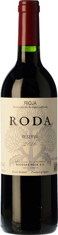 54,95 € Free Shipping | Red wine Bodegas Roda Reserva D.O.Ca. Rioja The Rioja Spain Tempranillo, Grenache, Graciano Magnum Bottle 1,5 L