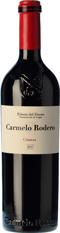 17,95 € Envío gratis | Vino tinto Carmelo Rodero Crianza D.O. Ribera del Duero Castilla y León España Tempranillo, Cabernet Sauvignon Botella 75 cl
