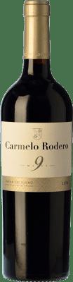 12,95 € Free Shipping | Red wine Carmelo Rodero 9 Meses Joven D.O. Ribera del Duero Castilla y León Spain Tempranillo Bottle 75 cl