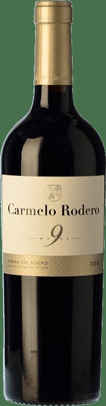9,95 € Envío gratis | Vino tinto Carmelo Rodero 9 Meses Joven D.O. Ribera del Duero Castilla y León España Tempranillo Botella 75 cl