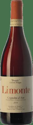 12,95 € Envío gratis | Vino tinto Braida Limonte D.O.C. Grignolino d'Asti Piemonte Italia Grignolino Botella 75 cl