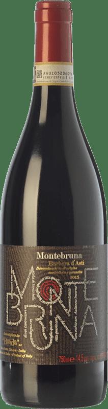 16,95 € Envío gratis | Vino tinto Braida Montebruna D.O.C. Barbera d'Asti Piemonte Italia Barbera Botella 75 cl