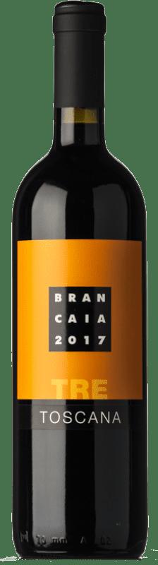 15,95 € Envío gratis | Vino tinto Brancaia Tre I.G.T. Toscana Toscana Italia Merlot, Cabernet Sauvignon, Sangiovese Botella 75 cl