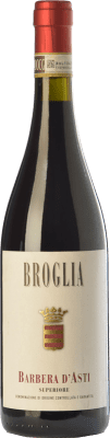 18,95 € Free Shipping | Red wine Broglia Superiore D.O.C. Barbera d'Asti Piemonte Italy Barbera Bottle 75 cl