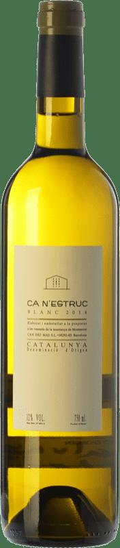 5,95 € Envío gratis | Vino blanco Ca N'Estruc Joven D.O. Catalunya Cataluña España Macabeo, Xarel·lo, Chardonnay, Moscatel Grano Menudo Botella 75 cl
