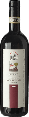 24,95 € Free Shipping | Red wine Ca' Rossa Mompissano D.O.C.G. Roero Piemonte Italy Nebbiolo Bottle 75 cl