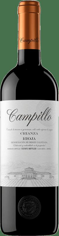 9,95 € Free Shipping | Red wine Campillo Crianza D.O.Ca. Rioja The Rioja Spain Tempranillo Bottle 75 cl