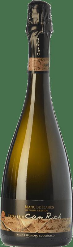 11,95 € Free Shipping | White sparkling Can Rich Blanc de Blancs Reserva I.G.P. Vi de la Terra de Ibiza Balearic Islands Spain Malvasía Bottle 75 cl