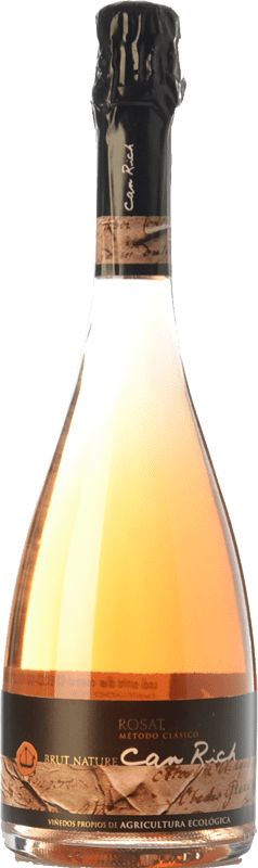 11,95 € Free Shipping | Rosé sparkling Can Rich Extra Brut I.G.P. Vi de la Terra de Ibiza Balearic Islands Spain Syrah Bottle 75 cl