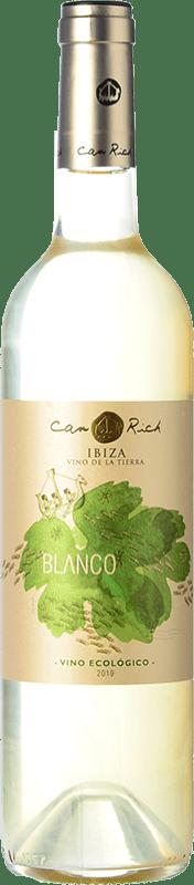 9,95 € Free Shipping | White wine Can Rich I.G.P. Vi de la Terra de Ibiza Balearic Islands Spain Malvasía, Chardonnay Bottle 75 cl