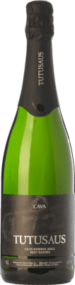 13,95 € Free Shipping | White sparkling Can Tutusaus Tutusaus Brut Nature Gran Reserva D.O. Cava Catalonia Spain Macabeo, Xarel·lo, Chardonnay, Parellada Bottle 75 cl. | Thousands of wine lovers trust us to get the best price guarantee, free shipping always and hassle-free shopping and returns.