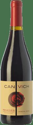 9,95 € Envío gratis | Vino tinto Can Vich Crianza D.O. Penedès Cataluña España Cabernet Sauvignon Botella 75 cl