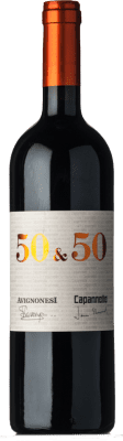 129,95 € Free Shipping   Red wine Capannelle 50&50 I.G.T. Toscana Tuscany Italy Merlot, Sangiovese Bottle 75 cl
