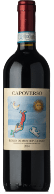 16,95 € Free Shipping | Red wine Capoverso D.O.C. Rosso di Montepulciano Tuscany Italy Sangiovese, Canaiolo Bottle 75 cl