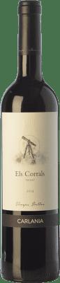14,95 € Free Shipping | Red wine Carlania Els Corrals Joven D.O. Conca de Barberà Catalonia Spain Trepat Bottle 75 cl
