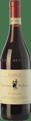 56,95 € Free Shipping | Red wine Cascina Ballarin Bussia D.O.C.G. Barolo Piemonte Italy Nebbiolo Bottle 75 cl