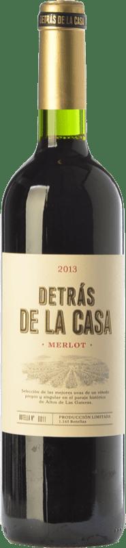 15,95 € Free Shipping | Red wine Castaño Detrás de la Casa Crianza D.O. Yecla Region of Murcia Spain Merlot Bottle 75 cl