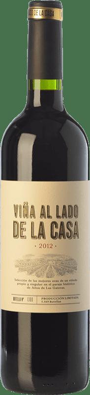 16,95 € Free Shipping | Red wine Castaño Viña al Lado de la Casa Crianza D.O. Yecla Region of Murcia Spain Syrah, Cabernet Sauvignon, Monastrell, Grenache Tintorera Bottle 75 cl