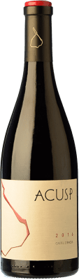 41,95 € Free Shipping | Red wine Castell d'Encús Acusp Crianza D.O. Costers del Segre Catalonia Spain Pinot Black Bottle 75 cl