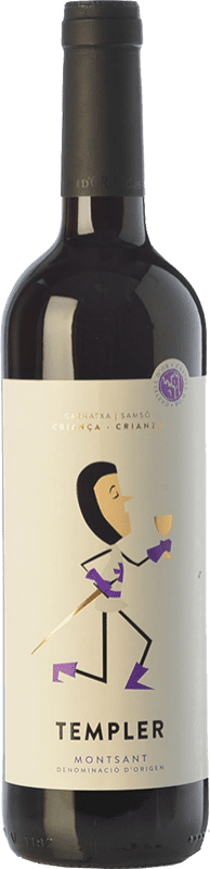 10,95 € Free Shipping | Red wine Castell d'Or Templer Criança Crianza D.O. Montsant Catalonia Spain Grenache, Carignan Bottle 75 cl