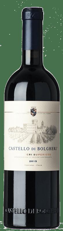 68,95 € Free Shipping | Red wine Castello di Bolgheri D.O.C. Bolgheri Tuscany Italy Merlot, Cabernet Sauvignon, Cabernet Franc Bottle 75 cl