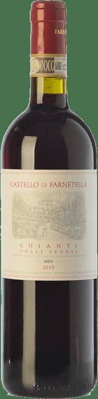 8,95 € Free Shipping | Red wine Castello di Farnetella Colli Senesi D.O.C.G. Chianti Tuscany Italy Merlot, Sangiovese Bottle 75 cl