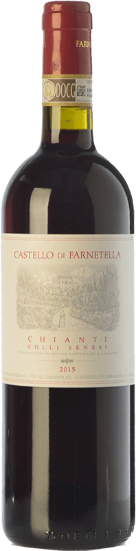 8,95 € Envoi gratuit | Vin rouge Castello di Farnetella Colli Senesi D.O.C.G. Chianti Toscane Italie Merlot, Sangiovese Bouteille 75 cl