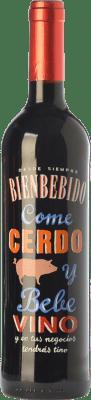6,95 € Free Shipping | Red wine Castillo de Maetierra Come Cerdo y Bebe Vino Reserva I.G.P. Vino de la Tierra Valles de Sadacia The Rioja Spain Tempranillo, Grenache Bottle 75 cl