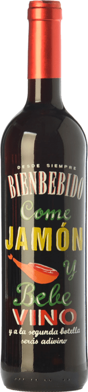 6,95 € Envío gratis   Vino tinto Castillo de Maetierra Come Jamón y Bebe Vino Joven D.O.Ca. Rioja La Rioja España Tempranillo Botella 75 cl