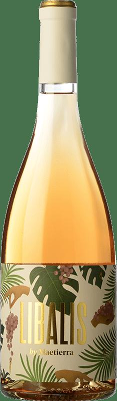4,95 € Free Shipping | Rosé wine Castillo de Maetierra Libalis Rosé Joven I.G.P. Vino de la Tierra Valles de Sadacia The Rioja Spain Syrah, Muscatel Small Grain Bottle 75 cl